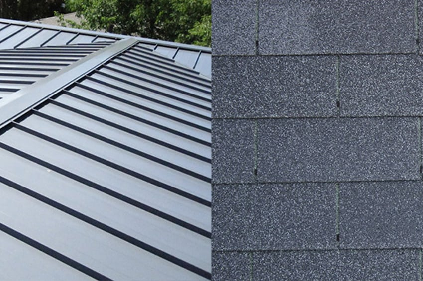 What's the Difference? Metal Roofs vs. Asphalt Shingles